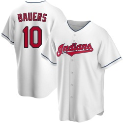Jake Bauers Cleveland Indians Men's Replica Home Jersey - White