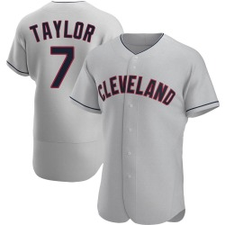 Jake Taylor Cleveland Indians Men's Authentic Road Jersey - Gray
