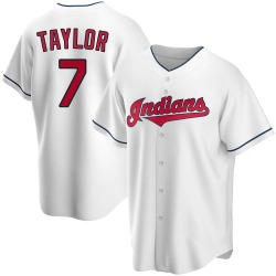 Jake Taylor Cleveland Indians Men's Replica Home Jersey - White