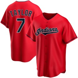 Jake Taylor Cleveland Indians Youth Replica Alternate Jersey - Red