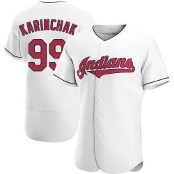 James Karinchak Cleveland Indians Men's Authentic Home Jersey - White