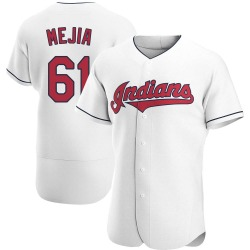 Jean Carlos Mejia Cleveland Indians Men's Authentic Home Jersey - White
