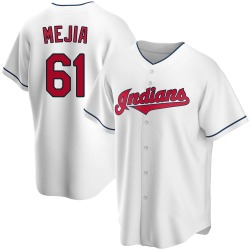 Jean Carlos Mejia Cleveland Indians Youth Replica Home Jersey - White