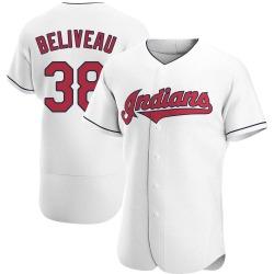 Jeff Beliveau Cleveland Indians Men's Authentic Home Jersey - White