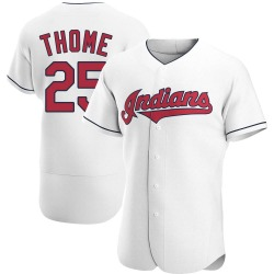 Jim Thome Cleveland Indians Men's Authentic Home Jersey - White