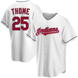 Jim Thome Cleveland Indians Men's Replica Home Jersey - White