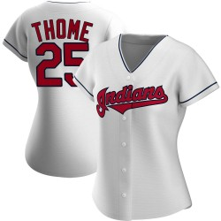 Jim Thome Cleveland Indians Women's Authentic Home Jersey - White