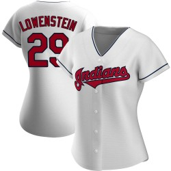 John Lowenstein Cleveland Indians Women's Authentic Home Jersey - White