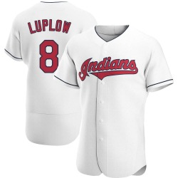 Jordan Luplow Cleveland Indians Men's Authentic Home Jersey - White