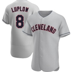 Jordan Luplow Cleveland Indians Men's Authentic Road Jersey - Gray