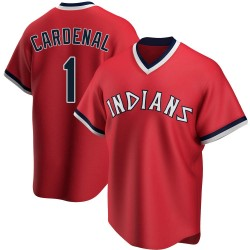 Jose Cardenal Cleveland Indians Men's Replica Road Cooperstown Collection Jersey - Red
