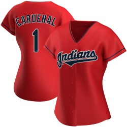 Jose Cardenal Cleveland Indians Women's Authentic Alternate Jersey - Red