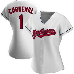 Jose Cardenal Cleveland Indians Women's Authentic Home Jersey - White