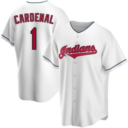 Jose Cardenal Cleveland Indians Youth Replica Home Jersey - White