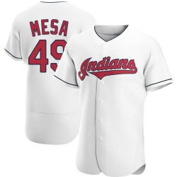 Jose Mesa Cleveland Indians Men's Authentic Home Jersey - White