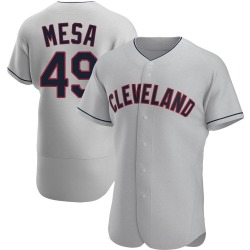 Jose Mesa Cleveland Indians Men's Authentic Road Jersey - Gray