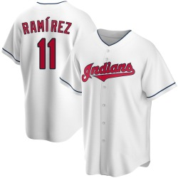 Jose Ramirez Cleveland Indians Youth Replica Home Jersey - White