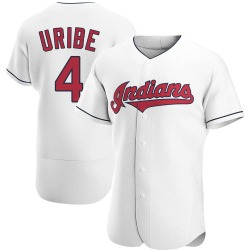Juan Uribe Cleveland Indians Men's Authentic Home Jersey - White