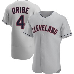 Juan Uribe Cleveland Indians Men's Authentic Road Jersey - Gray
