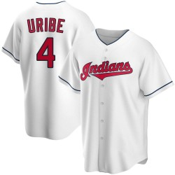 Juan Uribe Cleveland Indians Men's Replica Home Jersey - White