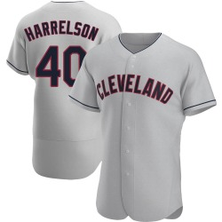 Ken Harrelson Cleveland Indians Men's Authentic Road Jersey - Gray