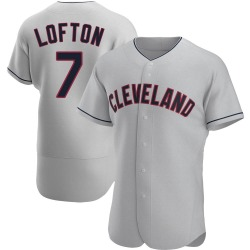 Kenny Lofton Cleveland Indians Men's Authentic Road Jersey - Gray
