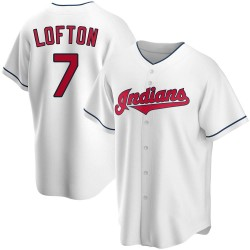 Kenny Lofton Cleveland Indians Men's Replica Home Jersey - White