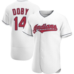 Larry Doby Cleveland Indians Men's Authentic Home Jersey - White