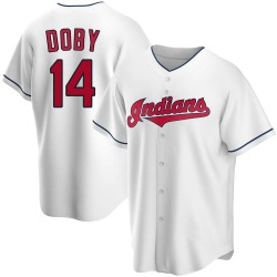 Larry Doby Cleveland Indians Men's Replica Home Jersey - White