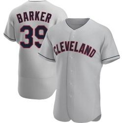 Len Barker Cleveland Indians Men's Authentic Road Jersey - Gray