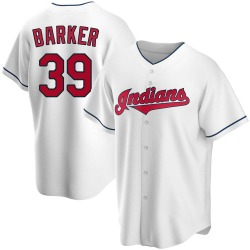 Len Barker Cleveland Indians Youth Replica Home Jersey - White