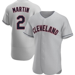 Leonys Martin Cleveland Indians Men's Authentic Road Jersey - Gray
