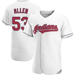 Logan Allen Cleveland Indians Men's Authentic Home Jersey - White