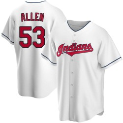 Logan Allen Cleveland Indians Men's Replica Home Jersey - White