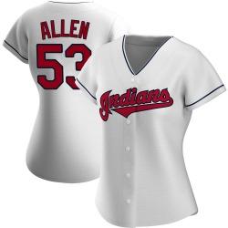 Logan Allen Cleveland Indians Women's Authentic Home Jersey - White