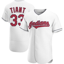 Luis Tiant Cleveland Indians Men's Authentic Home Jersey - White