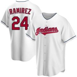 Manny Ramirez Cleveland Indians Men's Replica Home Jersey - White