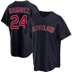 Manny Ramirez Cleveland Indians Youth Replica Alternate Jersey - Navy