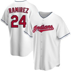 Manny Ramirez Cleveland Indians Youth Replica Home Jersey - White