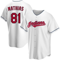 Mark Mathias Cleveland Indians Men's Replica Home Jersey - White