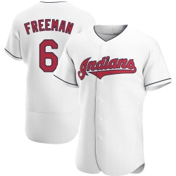 Mike Freeman Cleveland Indians Men's Authentic Home Jersey - White