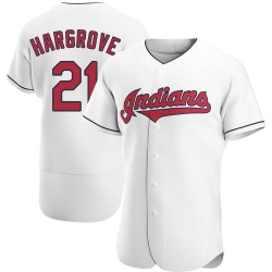 Mike Hargrove Cleveland Indians Men's Authentic Home Jersey - White