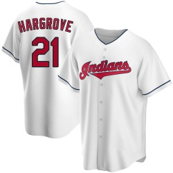 Mike Hargrove Cleveland Indians Men's Replica Home Jersey - White