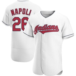 Mike Napoli Cleveland Indians Men's Authentic Home Jersey - White