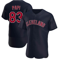 Mike Papi Cleveland Indians Men's Authentic Alternate Jersey - Navy