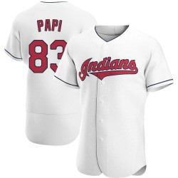 Mike Papi Cleveland Indians Men's Authentic Home Jersey - White