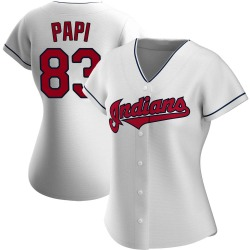 Mike Papi Cleveland Indians Women's Authentic Home Jersey - White