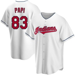 Mike Papi Cleveland Indians Youth Replica Home Jersey - White
