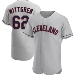 Nick Wittgren Cleveland Indians Men's Authentic Road Jersey - Gray