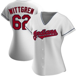 Nick Wittgren Cleveland Indians Women's Authentic Home Jersey - White
